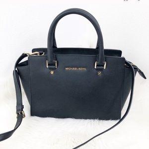Michael Kors black Selma shoulder bag large